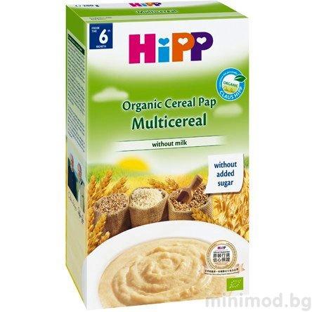 HIPP Бебешка био многозърнеста инстантна каша 200 гр.